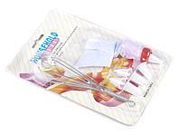Кондитерский набор 7 предметов: венчик, мешок кондитерский + 5 насадок