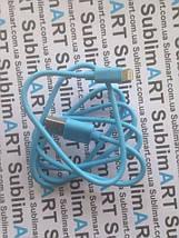 Usb кабель стандарт 100 см для iPhone, iPod, iPad 8 pin (голубой), фото 2