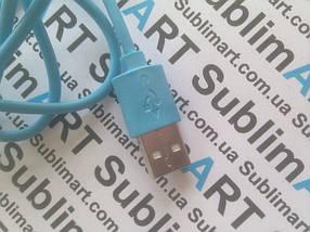 Usb кабель стандарт 100 см для iPhone, iPod, iPad 8 pin (голубой), фото 3