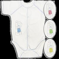 Детский боди-футболка, однотонная с принтом, тонкий хлопок (кулир), ТМ Свит Марио, р. 56