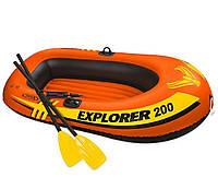 Лодка надувная Intex 58331, в наборе вёсла и насос