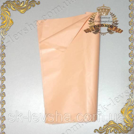 Папірусний папір тишею , колір персик 50*70 див.