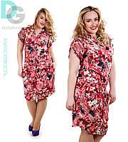 Платье с карманами Цветы № м400  Гл