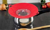 Универсальная крышка для кастрюли невыкипайка силиконовая Spill Stopper 26 см
