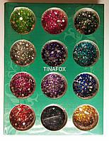 Камни для дизайна ногтей, 12 цветов