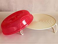 Полка 4 в 1, подставка в СВЧ, в холодильник, лоток для блюд, крышка для продуктов