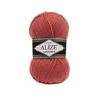 Alize Lanagold (Ализе Лана Голд) коралловый №154 (Пряжа, нитки для вязания полушерсть), фото 1