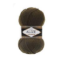 Alize Lanagold (Ализе Лана Голд) оливковый зеленый №214 (Пряжа, нитки для вязания полушерсть), фото 1