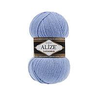 Alize Lanagold (Ализе Лана Голд) голубой №40 (Пряжа, нитки для вязания полушерсть), фото 1