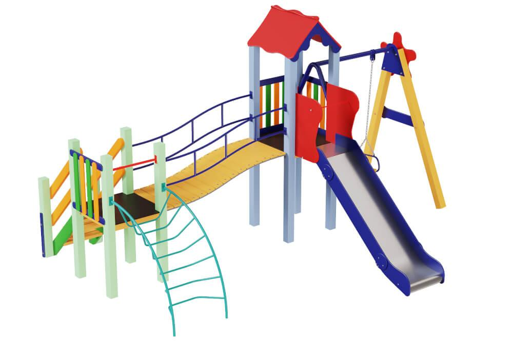 Дитячий комплекс верблюденя, висота гірки 1,5 м