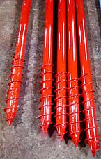 Винтовая свая многовитковая (геошуруп) диаметром 57 мм., длиною 1 метр, фото 2