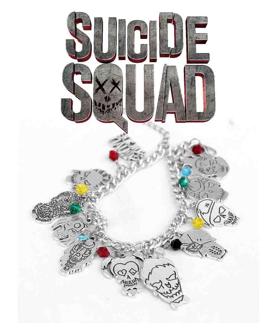Браслет с подвесками Отряд Самоубийц Suicide Squad