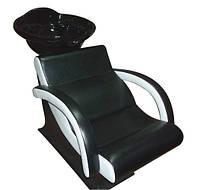 Парикмахерская мойка Lady Extra Black с креслом и сантехникой, фото 1