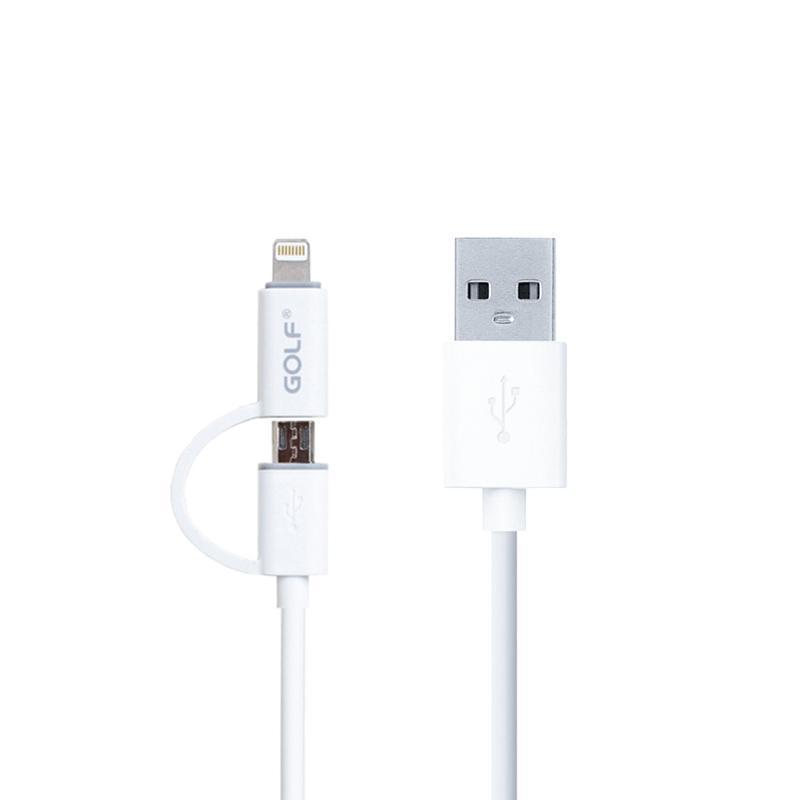 USB кабель Golf 2in1 iPhone 6/microUSB White (GC-20)