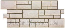 Фасадні панелі Dockе камінь Колекція BURG камінь БІЛИЙ1,072*0,472, Дьоке фасадные панели камень БЕЛЫЙ