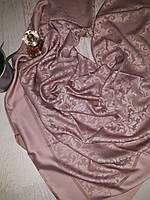Церковный платок нежная роза 100*100