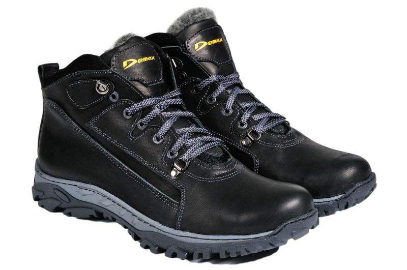 Мужские зимние ботинки с нат. кожи большого размера Demax р. 46 47 48 49 50