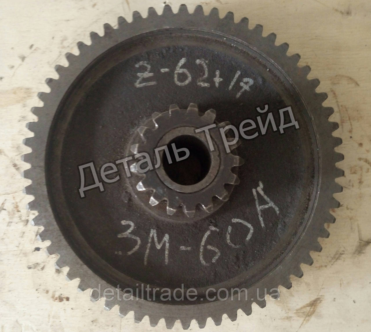 Блок зубчатый Z 62+Z 17 для зернометателя ЗМ-60А
