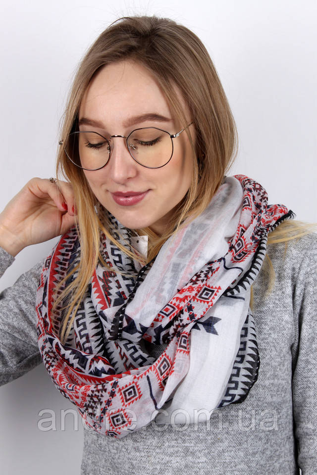 шарфы палантины Ника, белый