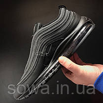"✔️ Кроссовки Nike Air Max 97 ""Triple Black"" , фото 2"