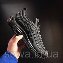 "✔️ Кроссовки Nike Air Max 97 ""Triple Black"" , фото 3"