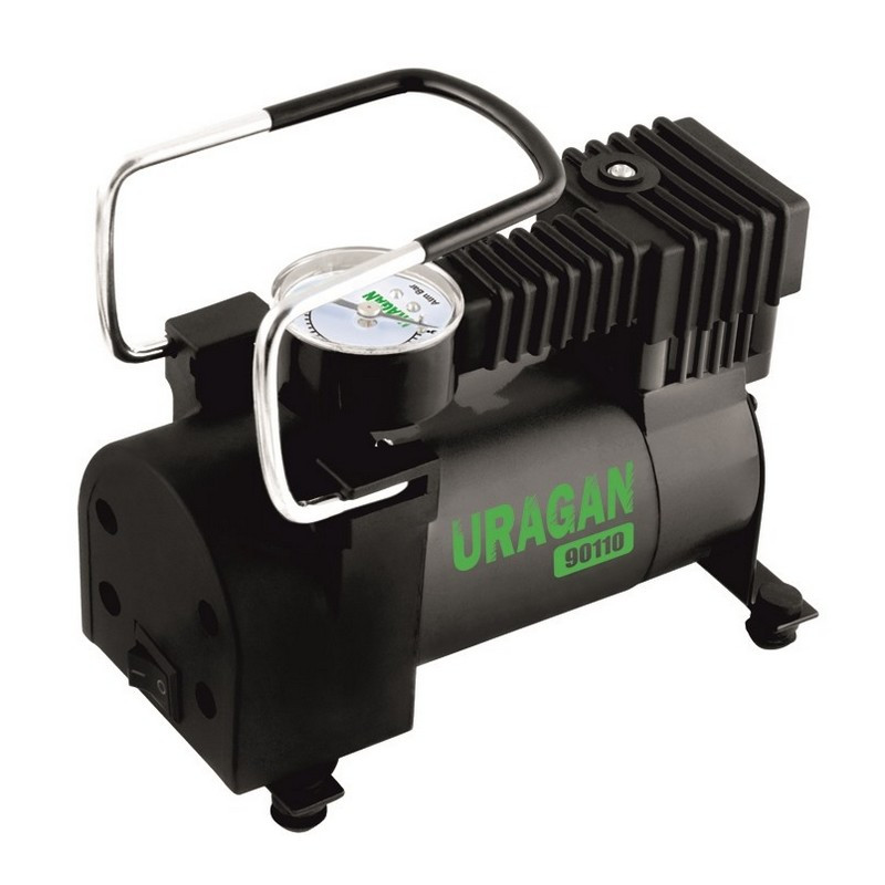 Автомобильный компрессор Uragan однопоршневой 35 л/мин 12 В 90110