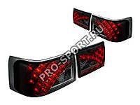 Задние тюнинг фонари ВАЗ 2110, 2112 светодиодные, тонированные/хром