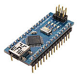 Arduino Nano V3.0 (ATmega328/ch340g - MiniUsb - UART) 5 Ст. 16 мГц. з USB кабелем, фото 2