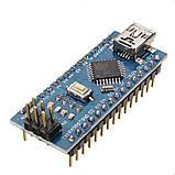 Arduino Nano V3.0 (ATmega328/ch340g - MiniUsb - UART) 5 Ст. 16 мГц. з USB кабелем, фото 3