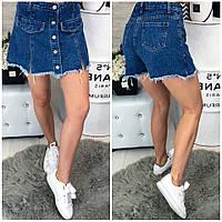 Юбка шорты джинсовые, фото 1