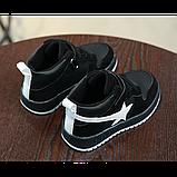 Хайтопы детские демисезонные PU кожа черные Размер: 33, фото 4