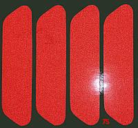Светоотражающая наклейка на торец двери авто 25х93 мм, отражатель (катафот) на самоклейке, 4 шт.