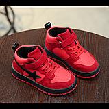 Хайтопы детские демисезонные PU кожа красные Размер: 33, фото 3