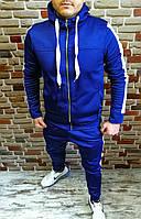 Спортивный костюм мужской с зауженными штанами синий