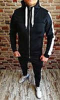 Спортивный костюм мужской с зауженными штанами черный