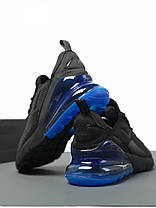 "✔️ Кроссовки Nike Air Max 270 ""Black/Blue"" , фото 3"
