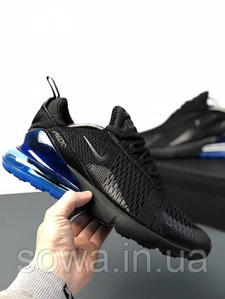 "✔️ Кроссовки Nike Air Max 270 ""Black/Blue"" , фото 2"