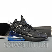 "✔️ Кроссовки Nike Air Max 270 ""Black/Blue"" , фото 2"