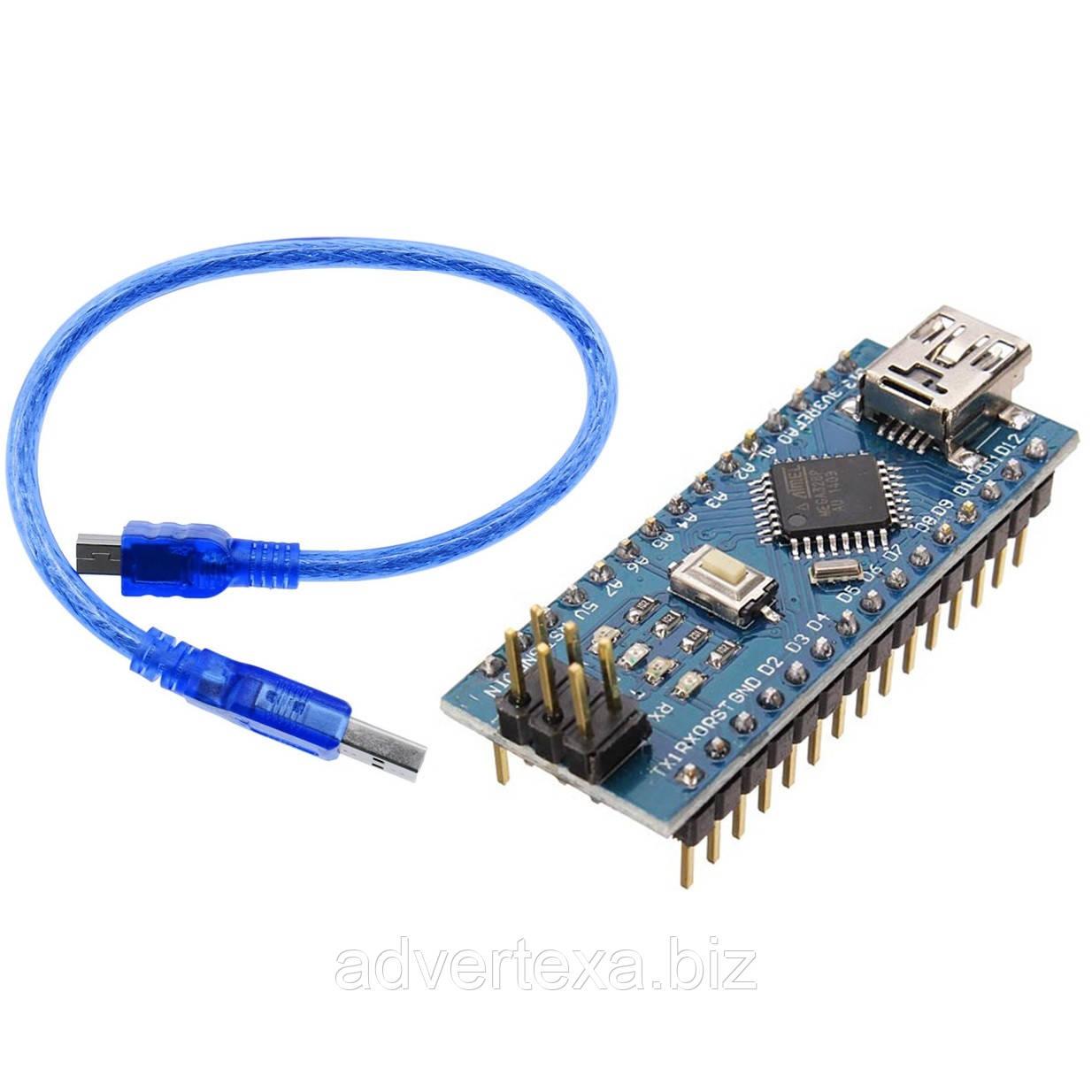 Arduino Nano V3.0 (ATmega328/ch340g - MiniUsb - UART) 5 Ст. 16 мГц. з USB кабелем
