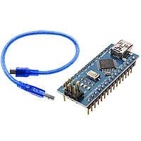 Arduino Nano V3.0 (ATmega328/ch340g - MiniUsb - UART) 5 В. 16 мГц. с USB кабелем, фото 1
