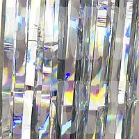 Штора из фольги серебро, 1*2 м
