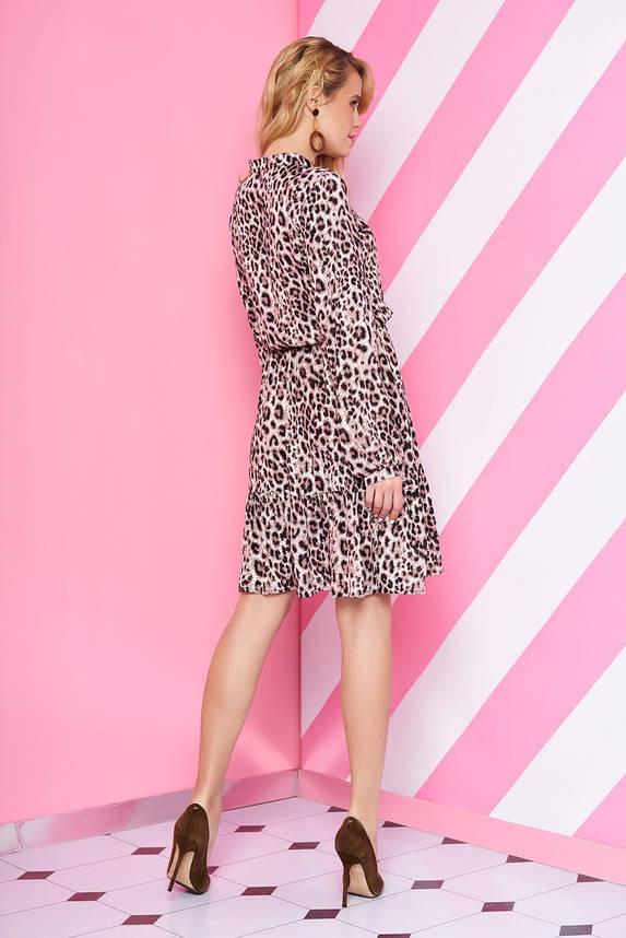 Леопардовое платье с длинным рукавом, фото 2