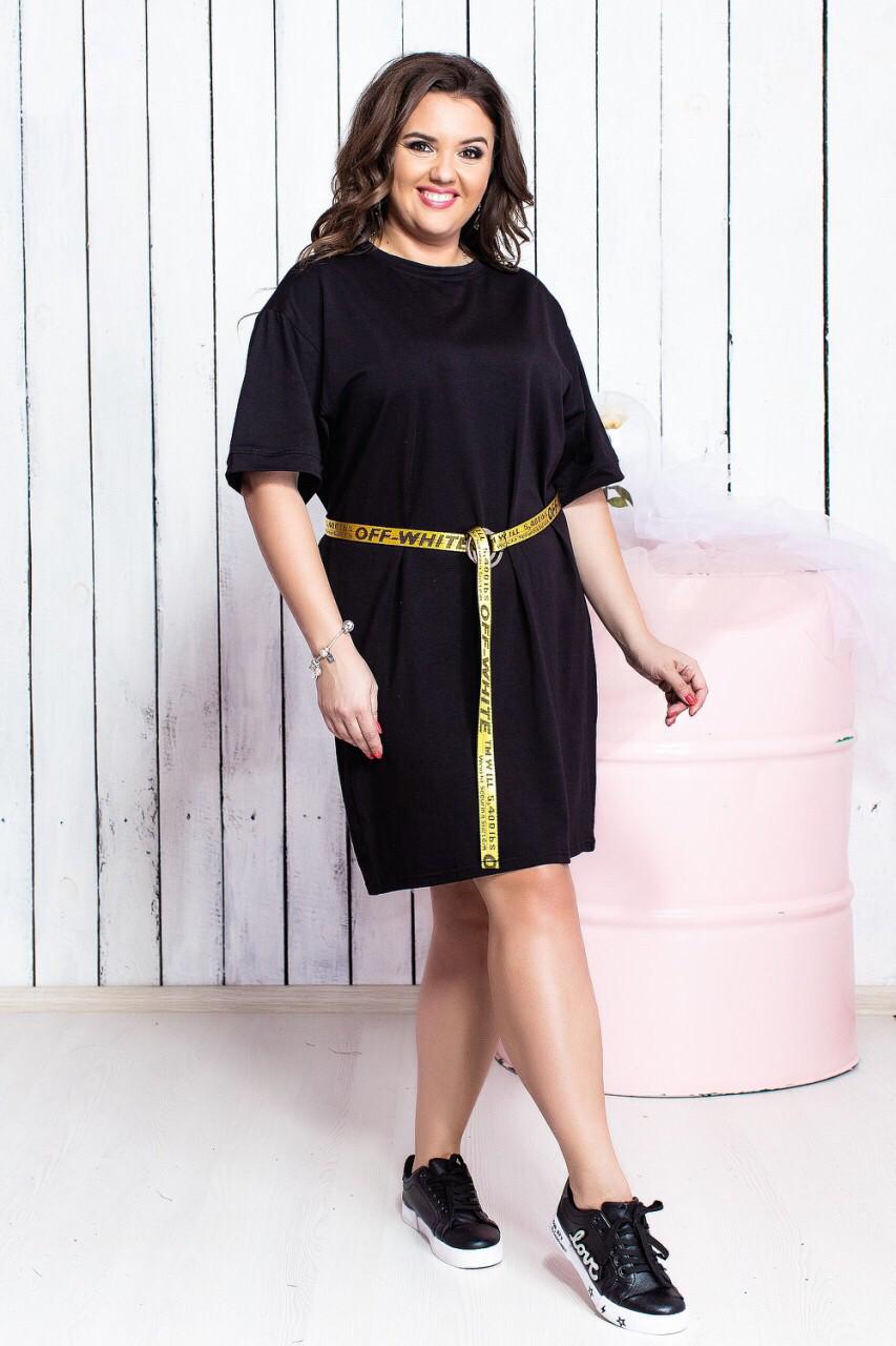 Чёрное платье для пышных форм
