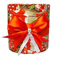 Коробка подарочная #211 для цветов (16 х 16 см)