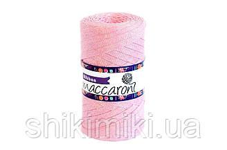 Трикотажный плоский шнур Ribbon Glitter,цвет Светло-розовый