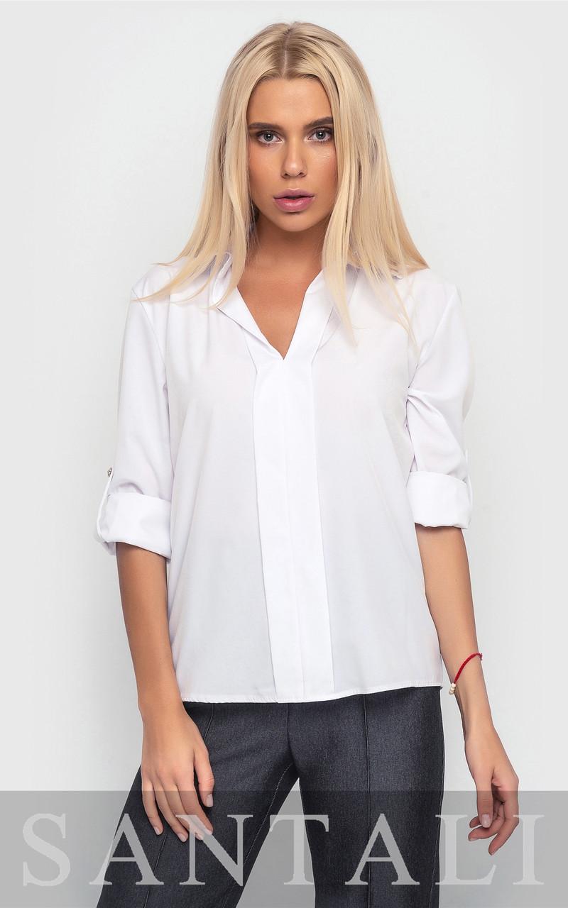 Женская блуза прямого покроя с рукавом 3/4 4513217