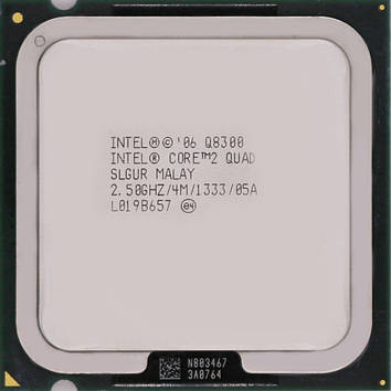 Процессор Intel Core 2 Quad Q8300 2.5GHz/4M/1333 (SLGUR) s775, tray