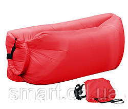 Надувной шезлонг Ламзак, биван, матрас Цвет Красный