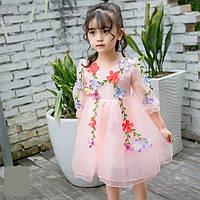 Нарядное детское платье, розовый р 98; 104; 110; 116; 122