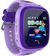 Смарт часы UWatch DF25 Kids фиолетовые для детей с телефоном и контролем за местополжением